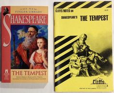 The Tempest by William Shakespeare with Cliffs Notes - Both Are Paperbacks