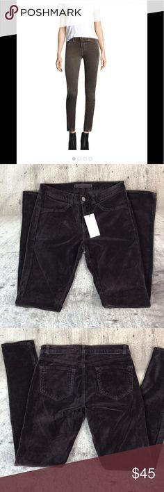 "J Brand velvet stretch skinny pants J Brand velvet stretch skinny pants cotton and spandex blend inseam 28"" rise 8"" Anthropologie Pants Skinny"