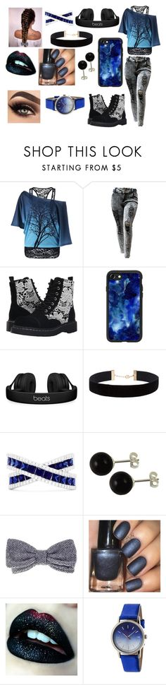 """""""-"""" by mangle322 on Polyvore featuring T.U.K., Casetify, Beats by Dr. Dre, Eloquii, Effy Jewelry, Black and Boum"""