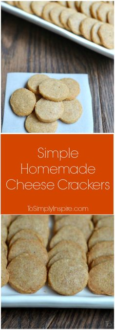 With only 3 ingredients, you can make simple homemade cheese crackers that are so much better than boxed versions!  They make a fabulous lunch or afterschool snack.