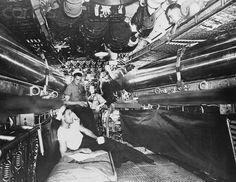 """Crew Inside Submarine"" #USNavy 02 Jan 1943 Rights Managed - Stock Photo - ©Corbis #WWII #History"