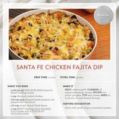 Our delicious Santa Fe Chicken Fajita Dip!