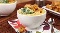 Broccoli and Cheddar Cheese Soup with Chicken and Rice
