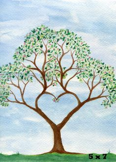 This art print, titled Hearts of the Fathers is a fun image to use for your home decor or personal space, and is perfect for any family history guru or tree lover. It is a digital print version of a fine art piece.  I had fun using watercolor paints to create the image, which I then converted to a digital format in order to share this image for your enjoyment.  Each image is printed on high quality and archival photo paper.  Paper/Size options to choose from:  5 X 7 inch Premium Matte Pa...