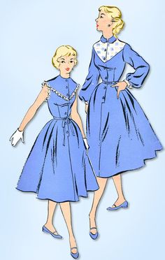 1950s Vintage New York Sewing Pattern 1137 Uncut Misses Shirtwaist Dress Sz 33 B #NewYork #ShirtwaistDressPattern