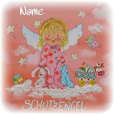 Schutzengelbild - Kinderzimmerbild Fictional Characters, Art, Guardian Angel Pictures, Art Background, Kunst, Performing Arts, Fantasy Characters, Art Education Resources, Artworks