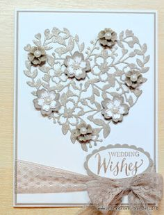 Jan Brown: JanB Handmade Cards Atelier: Tip Top Taupe Wedding Card - 3/10/16.  (Pin#1:  Anniversary... Pin+: Valentines: SU...).