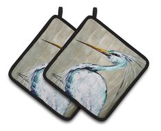 Blue Heron Smitty's Brother Pair of Pot Holders MW1132PTHD