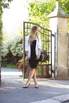 lbd and a white blazer