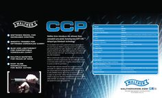 The ultimate 9mm concealed carry pistol. Links to Walther CCP web page.
