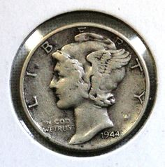 1944 Mercury Dime - 10C Silver Coin - Coins & Money - Coinage - Coin Collection - Christmas Gift - Vintage by EarthlyCrystals33 on Etsy