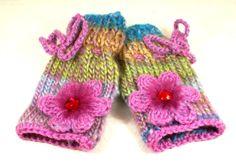 Children Mittens Gloves Hand Knit Knitted by coloratamarmellata, $23.00