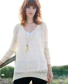 Paloma sweater - Wrap - Ultra soft and very luxe, this delicate lace stitch sweater is gorgeous. Generously styled, longer-length with a deep U-shaped neckline, it looks fabulous layered over our linen jersey essentials. 100% Baby Alpaca.