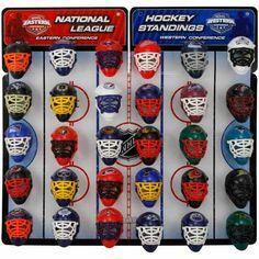 NHL Mini Goalie Mask Tracker/Standings Board