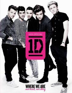 """Portada del libro oficial de One Direction, """"Where We Are. Our Band, Our Story"""", que saldrá a la venta el próximo 27 de agosto."""