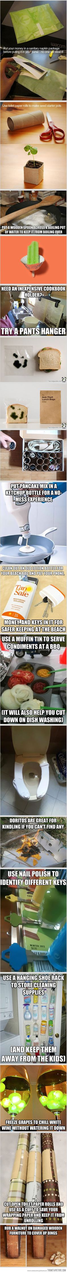 Some different life hacks.