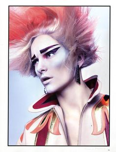 Hair: Seb Bascle  Makeup: Ralph Siciliano Armin Morbach, Love Makeup, Hair Makeup, Picasso Style, Making Faces, Jawline, Face Hair, Fantasy Makeup, Dark Beauty