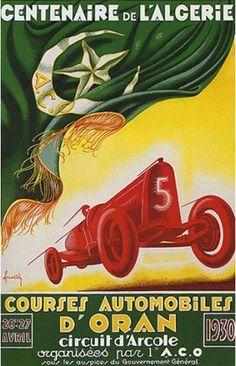 1930 - Courses Automobiles d'ORAN au Circuit d'Arcole