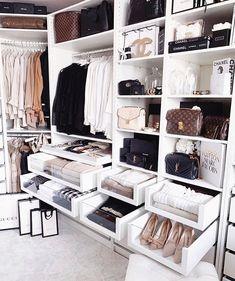 Master closet storage ideas interior design Ideas for 2019 Bedroom Closet Storage, Bedroom Closet Design, Master Bedroom Closet, Ikea Bedroom, Storage Room, Master Bedrooms, Walk In Closet Design, Closet Designs, Closets Pequenos