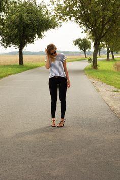 striped shirt, calvin klein heels, cat eye sunnies Cat Eye, Sunnies, Calvin Klein, Vegan Recipes, Hipster, Lifestyle, My Style, Heels, Shirts