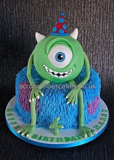 Monsters inc cake Kid Birthdays Pinterest Monsters Cake and