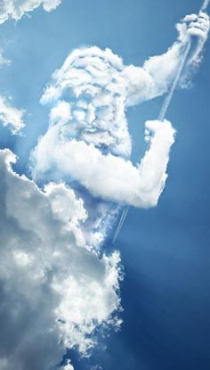 zeus is the god of the sky and this shows him in the sky