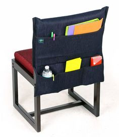 The Aussie Pouch® Dorm Chair Pocket is perfect for any college setting with large compartments for books or a laptop. Made to fit most college dorm chairs, the pocket measures wide x long and is machine washable. College Dorm Organization, Classroom Organisation, Classroom Management, Classroom Ideas, Dorm Chairs, Dorm Storage, Cubicle Storage, Hanging Storage, Chair Pockets