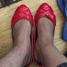 Red patent leather flats Red patent leather flats torrid Shoes Flats & Loafers