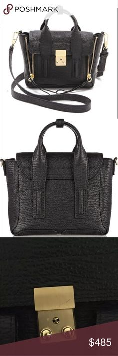 3.1 Phillip Lim Mini Pashli Satchel Black Great condition, it has been used with great care and stored with tissue wrap. Note minor scratch on hardware in third photo. Love this bag but I just have too many black bags. Looking to sell or trade for a different color (dark green/navy). Can do better on ♏️ 3.1 Phillip Lim Bags Crossbody Bags