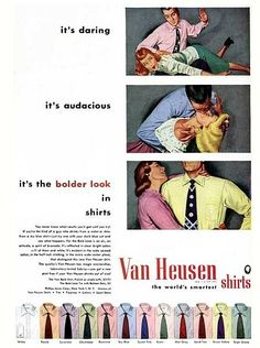 OK, this Van Heusen guy has some real serious issues. | 17 Ridiculously Sexist Vintage Ads