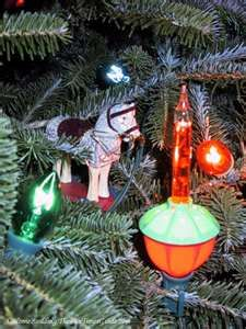 Bubble Lights on the Christmas tree.