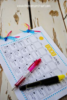 Summer Fun Activity Calendar