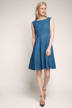 8354875eb1b6 edc - Denim-Kleid aus Baumwolle im Online Shop kaufen Wunderschöne Kleider,  Maxi Kleider