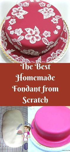 If you looking for the best homemade fondant recipe, this is it! Soft, elastic, works great in humid conditions. Unlike store bought this taste delicious, and If you look at the ingredients you will know why. via @Veenaazmanov Best Homemade Fondant Recipe, Sugarpaste recipe, homemade sugarpaste, how to make sugarpaste, how to make fondant, Easy fondant recipe, homemade fondant recipe