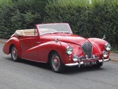 Learn more about Bigger Healey: 1953 Healey Abbot Drophead Coupe on Bring a Trailer, the home of the best vintage and classic cars online. American Graffiti, Harrison Ford, Vintage Cars, Antique Cars, Austin Cars, British Sports Cars, Convertible, Top Cars, Expensive Cars