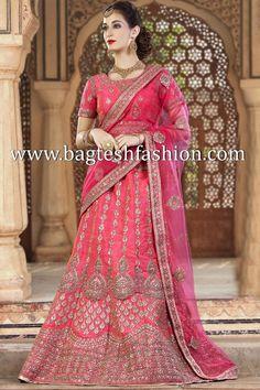 Spectacular Pink Silk Lehenga Choli