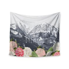 "East Urban Home ""Breathe"" by Suzanne Carter Wall Tapestry Size: 51"" H x 60"" W"