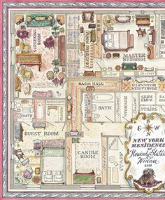 Partial floor plan from FIFTH AVENUE STYLE by Howard Slatkin, his forthcoming book about his New York apartment, out in October from Vendome Press.
