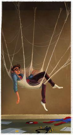Peter Parker by Elise Hatheway #Spiderman