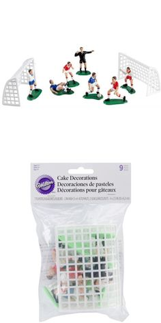 Wilton Soccer Topper Set, Seven players and two nets, 1.75 to 2 in. high, #Kitchen, #Cake Toppers, $1.95