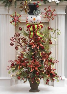 Snowman Christmas Tree ToppersSnowman Christmas Tree Toppers