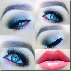 Makeup: Makeup Tips, Party Makeup & Celebrity Looks – articles adapted to all makeup styles Make Up Looks, Makeup Art, Makeup Tips, Makeup Ideas, Coral Lips, Black Smokey Eye, House Of Lashes, Beautiful Lips, Simply Beautiful