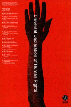 Universal Declaration of Human Rights poster series, Amnesty International, design by Woody Pirtle, 2002. @Deidra Brocké Wallace