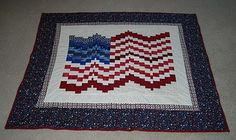 His American Flag Quilt and Wall Hanging. Check out Quilts SB at http://quiltsb.blogspot.com/.