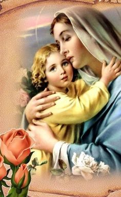 Jesus Our Savior, God Jesus, Blessed Mother Mary, Blessed Virgin Mary, Good Night Hug, Jesus Photo, Lady Madonna, Mama Mary, Immaculate Conception