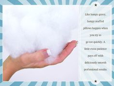 Pillow Personality with Fairfield Processing: Pillow Stuffing Tips & Tricks