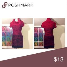 SWEATER DRESS ❄️ Red ombré sweater dress/tunic. BRAND NEW. Great with leggings and boots! 👢👢 lei Sweaters