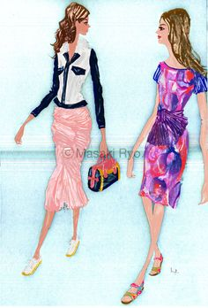 inspired by Burberry Prorsum Spring 2015 Ready-to-Wear | illustration by Masaki Ryo.