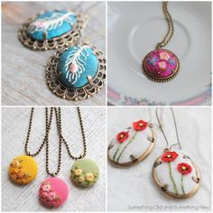 Something Old and Something New ~ Gorgeous Hand-Embroidered Jewellery