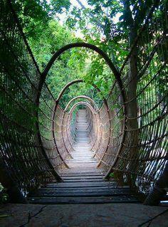 The Spider Bridge in Sun City Resort, South Africa.